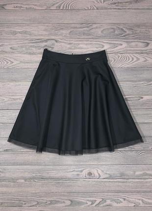 Эффектная черная юбка для девочки 14 лет.