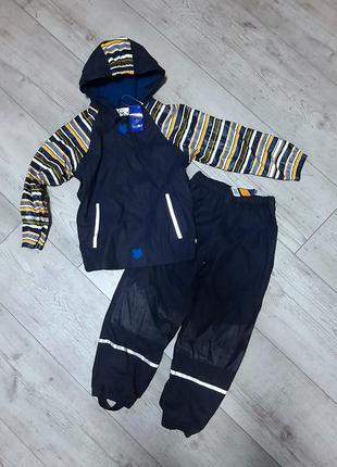 Комплект дождевик куртка и штаны lupilu 122/128 см на флисе грязепруф