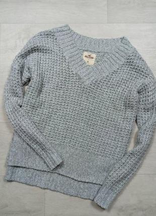Серый свитер hollister