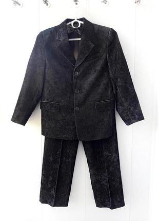 Дешево! школьный  костюм! пиджак + брюки ( штаны ) + бабочка