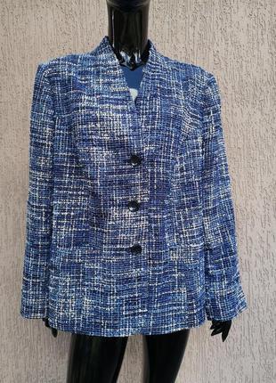 Яркий фактурный пиджак батал англия