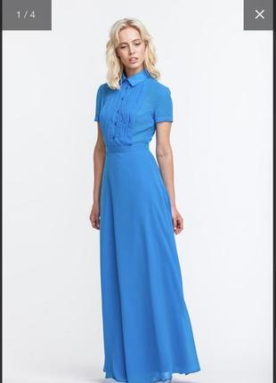 Блакитна сукня максі