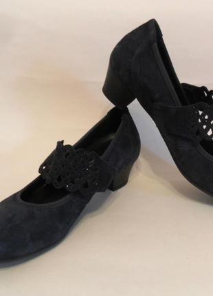 Замшевые туфли gabor