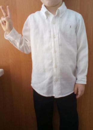 Качественная рубашка сорочка на 5-6 лет