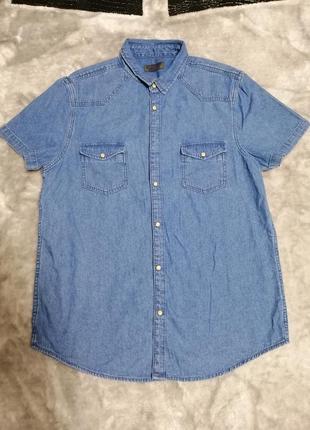 Мужская джинсовая рубашка primark р. s
