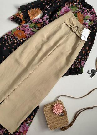 Новые стильные широкие штаны палаццо zara
