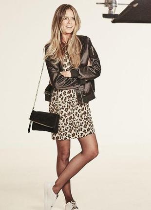 Хайди клум для esmara шикарное платье с леопардовым принтом, р.xs-s