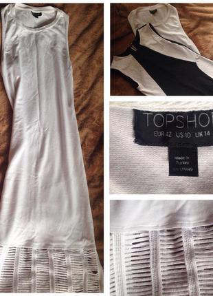 Платье белое-хлопок,вискоза