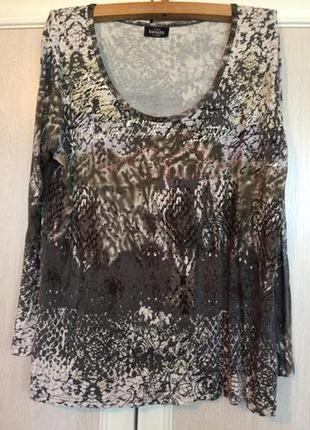 Стильная вискозная футболка-g.benotti-германия-стиль бохо- для женщин со вкусом-пог65/70+