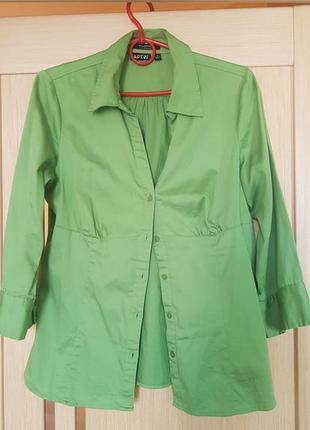Рубашка зелёная  блузка салатовая