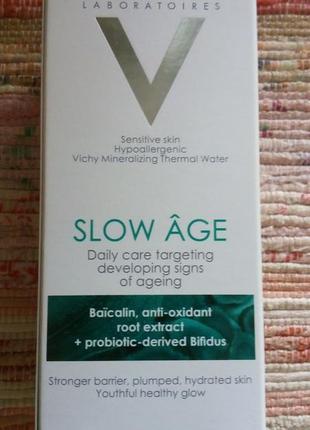 Ежедневный флюид для кожи лица против признаков старения vichy slow age, spf25, 50ml