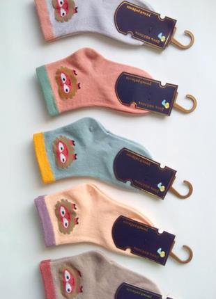 Носки детские унисекс с мордочками премиум качество