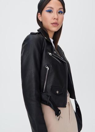 Куртка косуха байкерская с ремнем sinsay , р м,l,xl2 фото