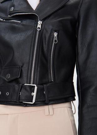 Куртка косуха байкерская с ремнем sinsay , р м,l,xl5 фото