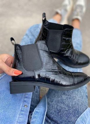 Ботинки - челси из натуральной кожи под рептилию ❤️