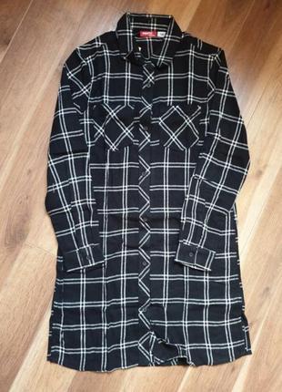 Pepperts рубашка платье туника 146 р на 10-11 лет.