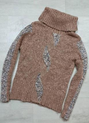Бежевый шерстяной свитер