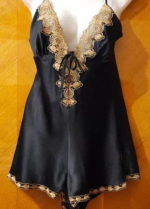 Сексуальное шикарное боди  платьице  с вышивкой р.8 marks& spencer