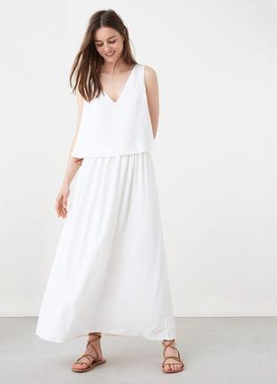 Mango шикарный белый сарафан платье с открытой спиной, р.м