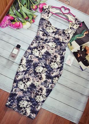 Шикарное миди платье в цветы