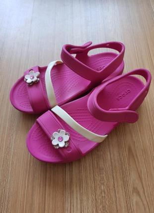 Сандали босоножки crocs кроксы для девочки