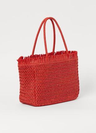 Соломенная сумка h&m