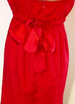 Атласне плаття міді( красное атласное платье миди)8 фото