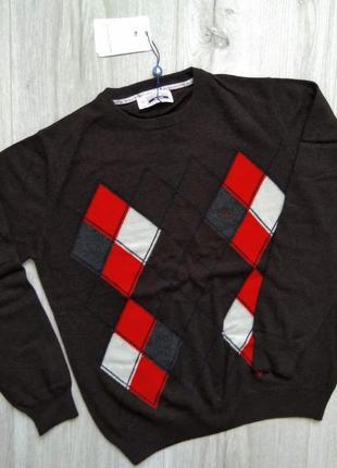 Свитшот реглан джемпер свитер polo коричневый ромб