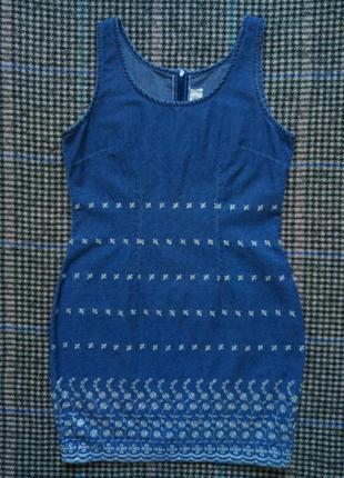 Платье,сарафан джинсовый