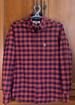 Рубашка u.s. polo assn. в клетку ralph lauren