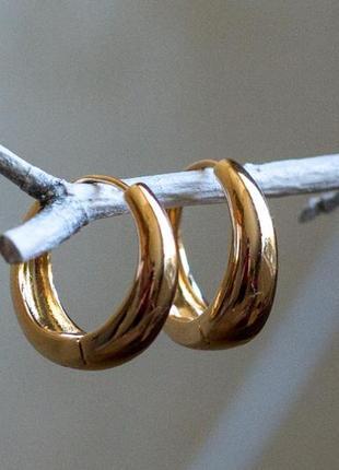 Серьги кольца, серьги конго, круглые серьги