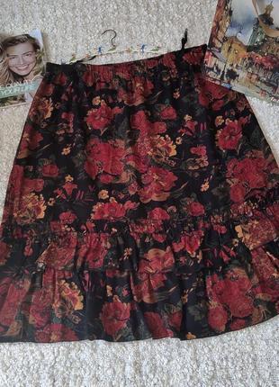 Винтажная юбка большого размера с рюшами