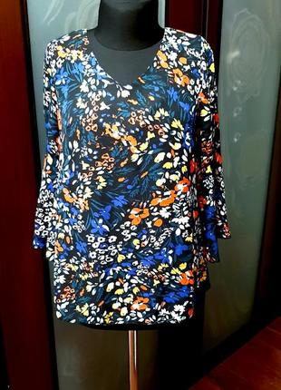 Стильная блузка шифоновая большемерит
