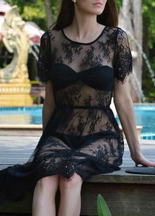 26 кружевное платье / прозрачный пеньюар / парео /
