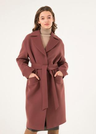 Женское пальто season глория пудренно-сиреневого цвета
