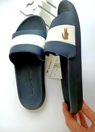 Шлёпанцы мужские lacoste croco slide 42 и 43-го размеров. оригинал ! унисекс. распродажа