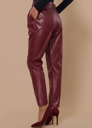 Распродажа!!! бордовые брюки из эко-кожи * отличное качество