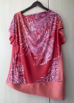 Ассиметричная блуза anais lu италия / xl / plus size