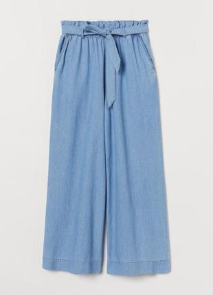 Базовые джинсовые кюлоты h&m