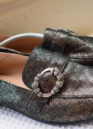 Шикарные кожаные туфли мокасины лоферы sambapah португалия р.40 27 см