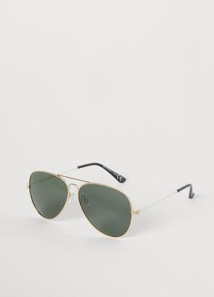 Поляризационные очки h&m, золотая оправа