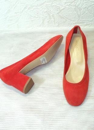 """Яркие замшевые португальские туфли от """"minelli"""", р 36"""
