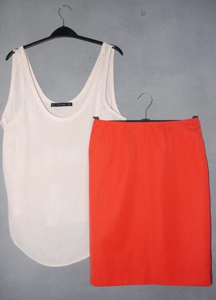 Коралловая юбка на талию новая