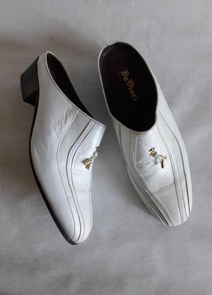 Кожаные летние туфли от da vinci оригинал