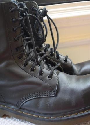 Кожаные ботинки мартенсы берцы стальной носок р.43 28,5 см