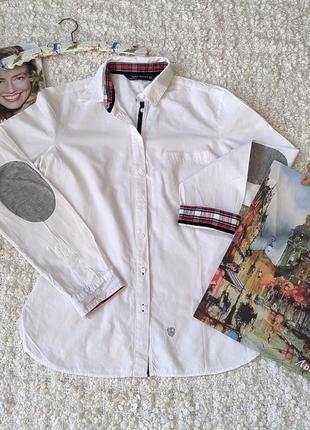 Белая  спортивная рубашка от zara