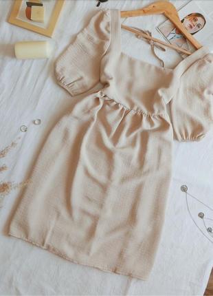 Невесомое очень нежное платье из натуральной ткани с красивой спинкой
