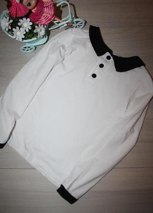 Милая блузочка для девочки в школу 122р (украина)