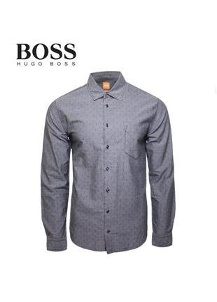 Мужская рубашка hugo boss orange оригинал