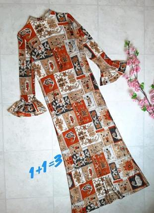 1+1=3 шикарное длинное платье с принтом diana, размер 44 - 46
